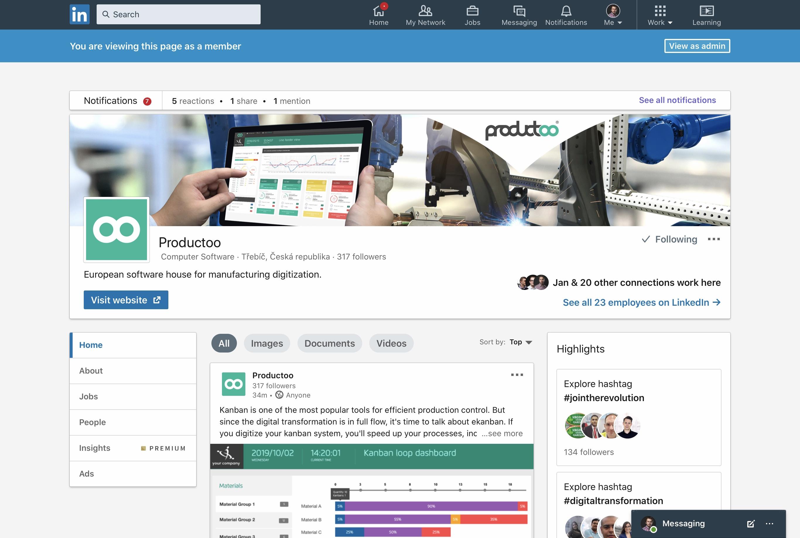 LinkedIn a Productoo