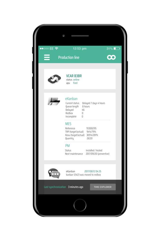 Co to je průmysl 4.0 - Ukázka mobilního software do výroby