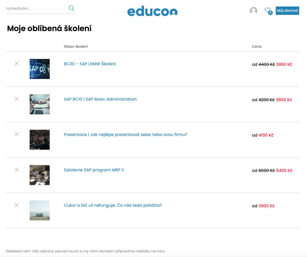 Vzdělávací kurzy Educoo