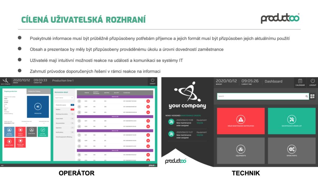 Uživatelská rozhraní a jejich optimalizace ve výrobě